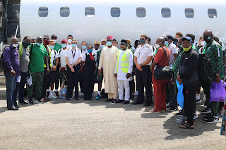 Super Eagles Arrives In Freetown