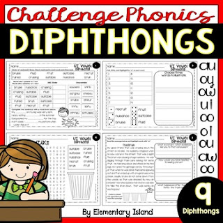 teaching phonics diphthongs resource