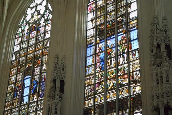 bruxelles cathédrale saint michel gudule vitraux