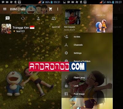BBM Mod Doraemon 3D v3.1.0.13 Apk Terbaru For Android