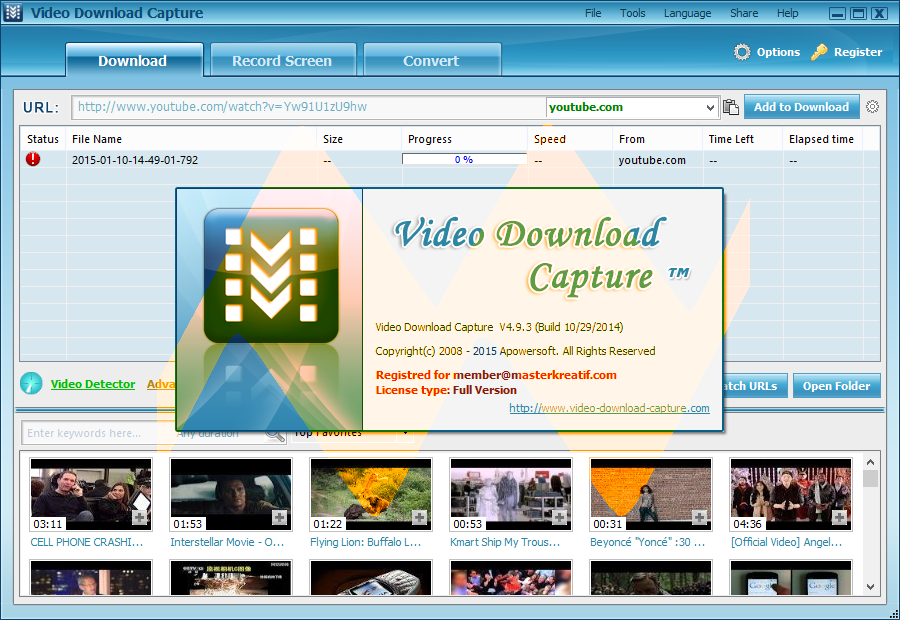 Video Download Capture 4.9.3