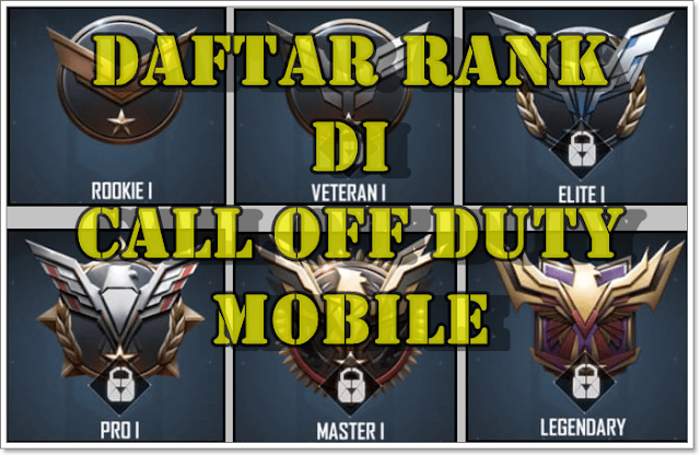 List of All Ranks in Call of Duty Mobile Game