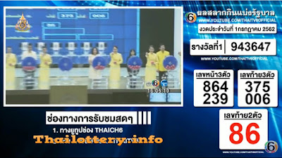Thailand Lottery Results 01 July 2019 Live Streaming Online