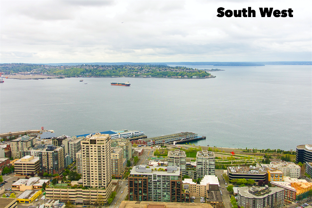 South Western View from the Space Needle in Seattle, WA