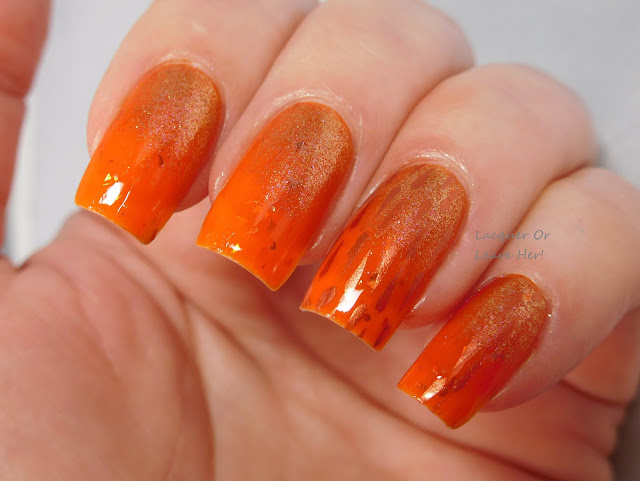 UberChic Beauty 10-01 over Spellbound Nails Crookshanks