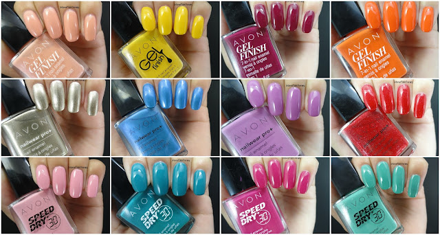 Avon Swatch fest! | Speed Dry