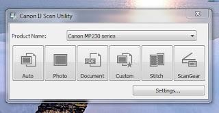 IJ Scan Utility untuk Printer Canon MP230 Series