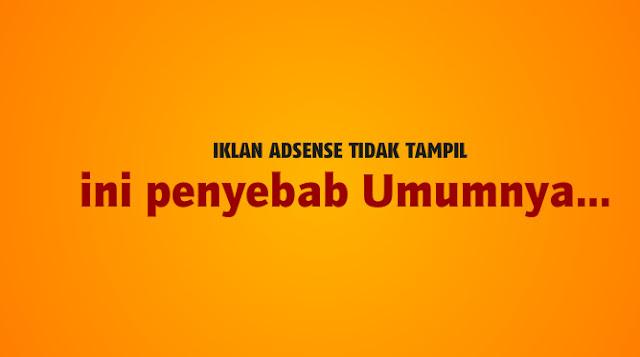 Penyebab Umum Iklan Adsense Tidak Mau Tampil Di Blog