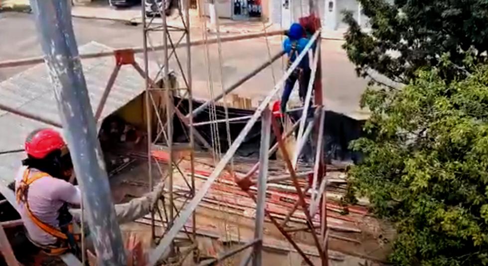Embargada, montagem de torre de TV avança; Semma e Seminfra ignoram o serviço