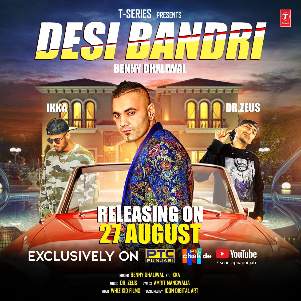 Desi Bandri - Benny Dhaliwal Ft Dr Zeus | Ikka | Lyrics