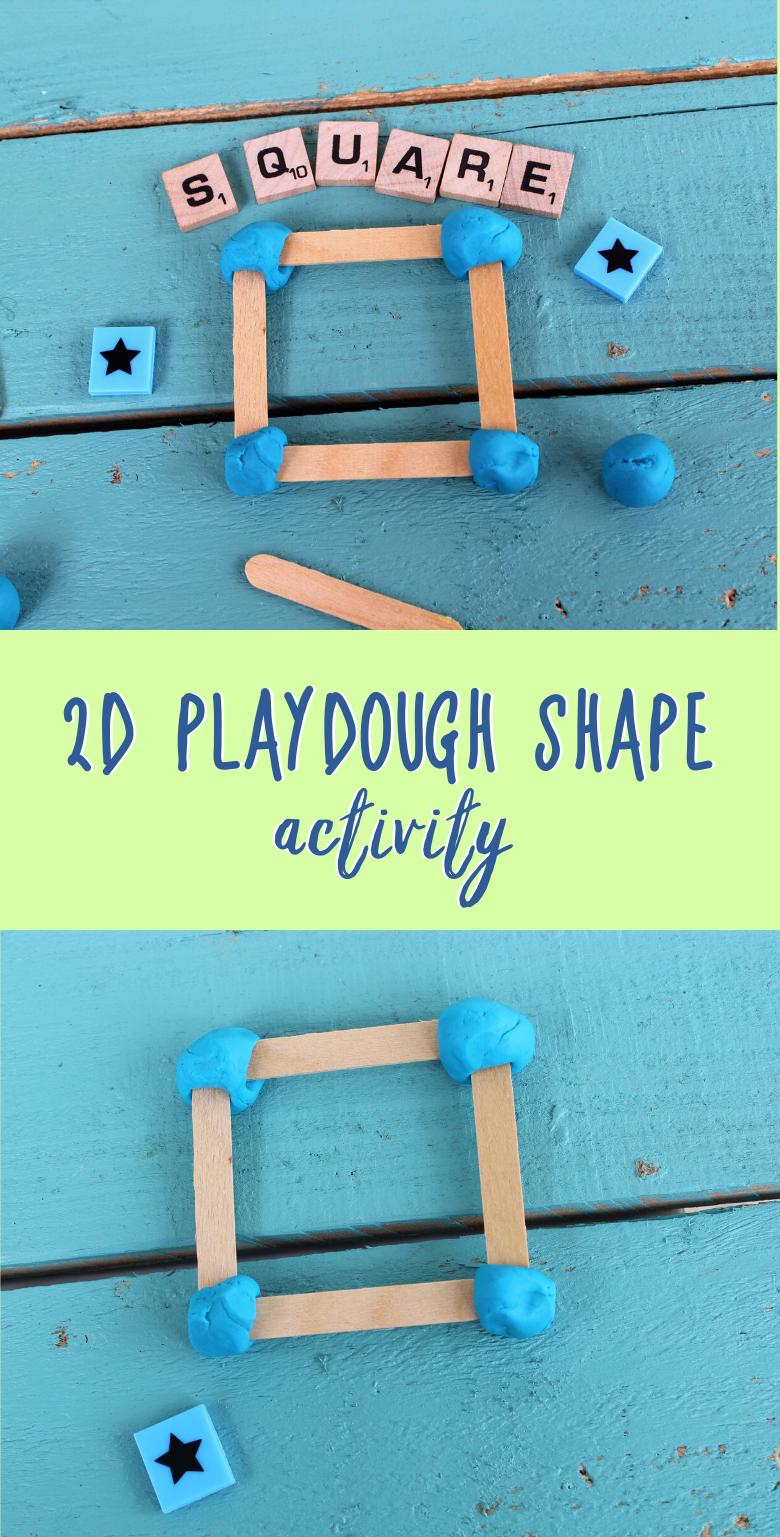 2D shape activity for kids. A fun learning playdough activity.