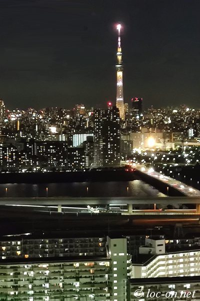 船堀タワーから見る下町の夜景,Night view of downtown seen from Funabori Tower,Funabori塔上看旧市区的夜景