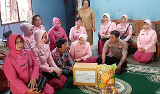 Kapolres Labuhanbatu Anjangsana Dalam Rangka HUT Yayasan Kemala Bhayangkari Ke 40