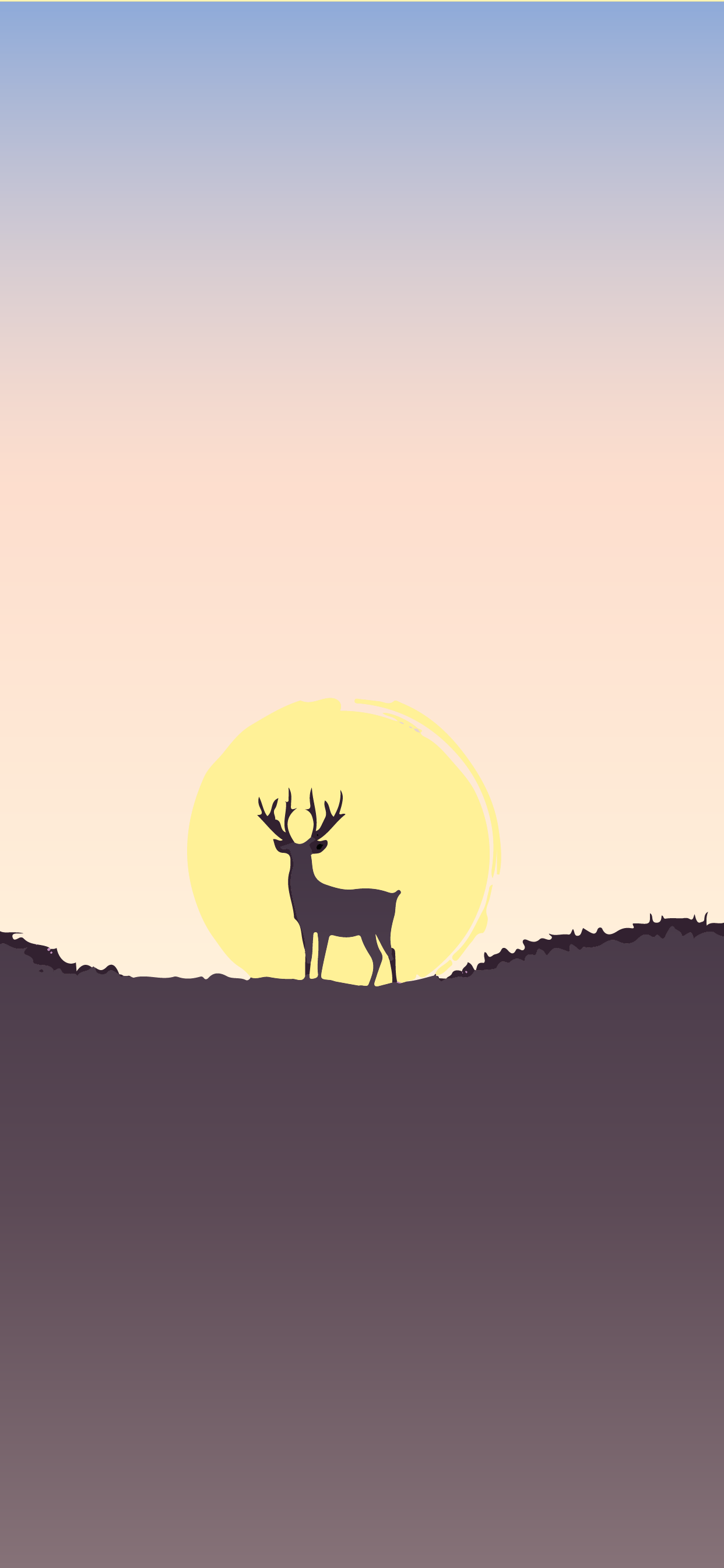 Deer at the sunset cool color wallpaper for mobile phone in hd