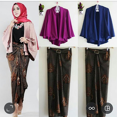 Setelan Skirt Cardy Batik