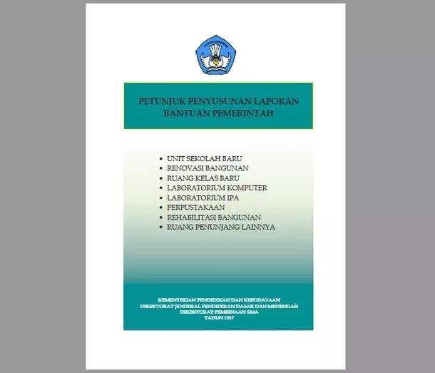 Petunjuk Penyusunan Laporan Bantuan Pemerintah untuk SMA Tahun 2017
