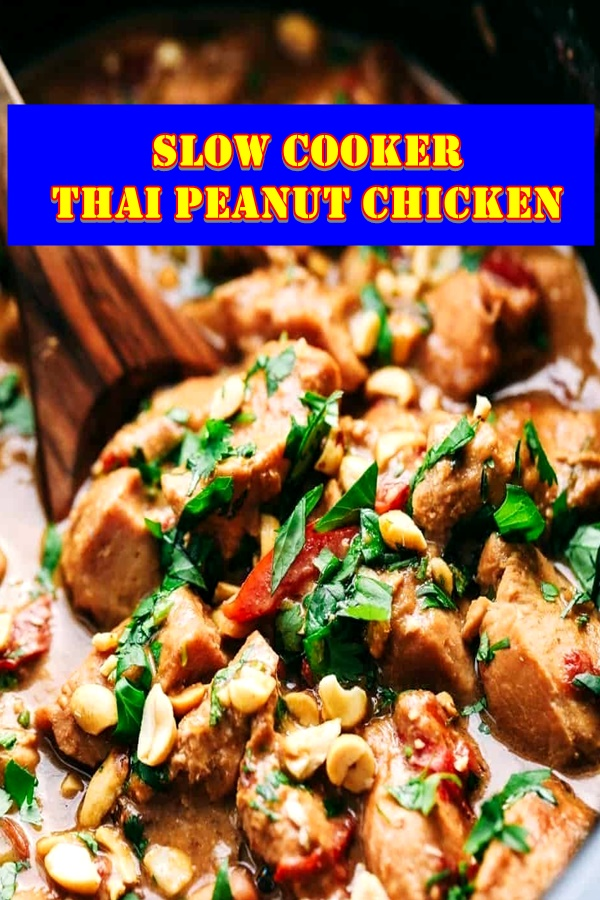 #Slow #Cooker #Thai #Peanut #Chicken