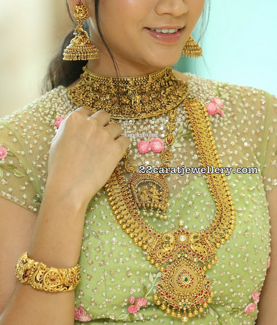 Sandhya Thota Antique Choker and Haram