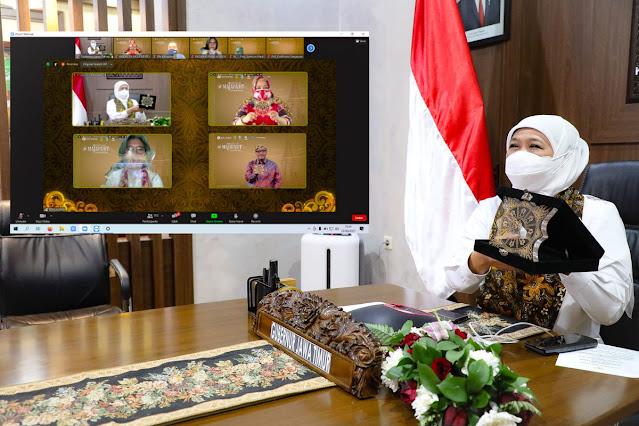 Khofifah Indar Parawansa Launching Festival Majapahit 2021.lelemuku.com.jpg