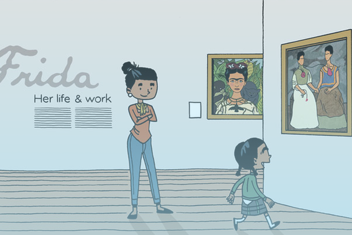 Fumetto ispirato a Frida Kahlo
