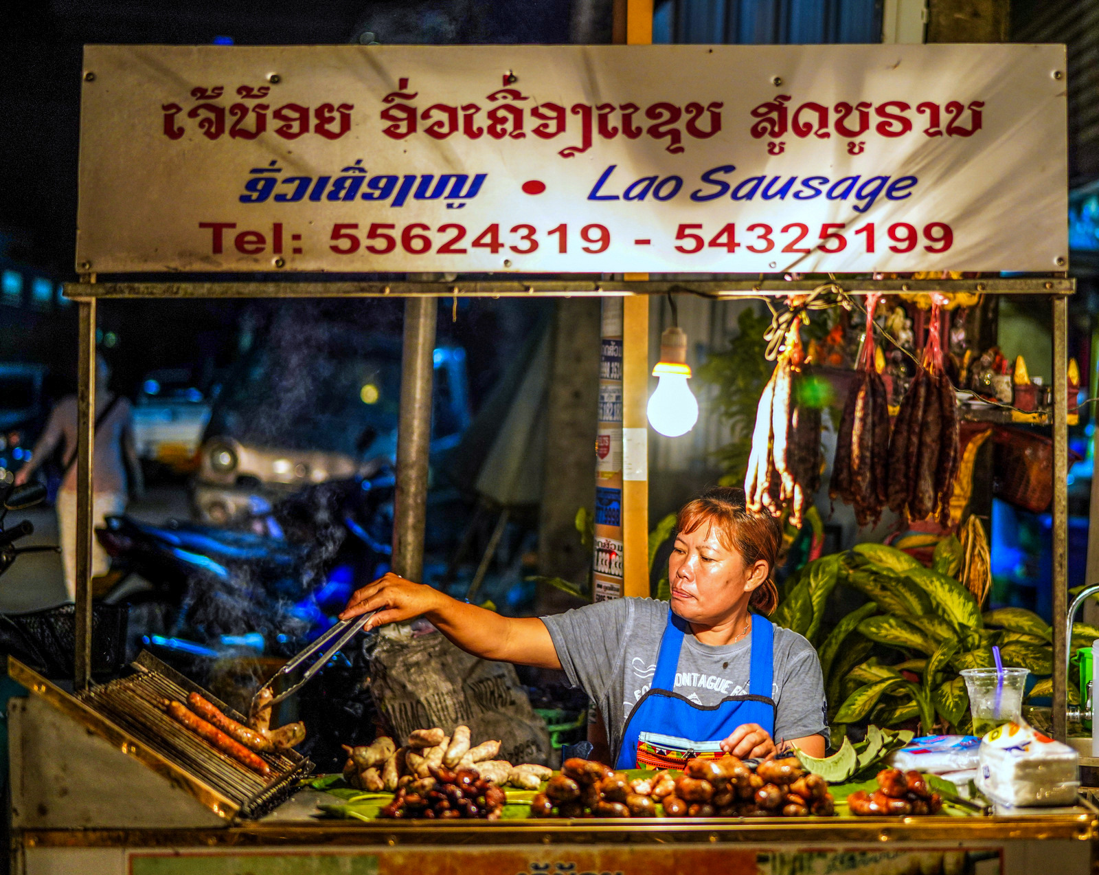 vientiane street food, laos
