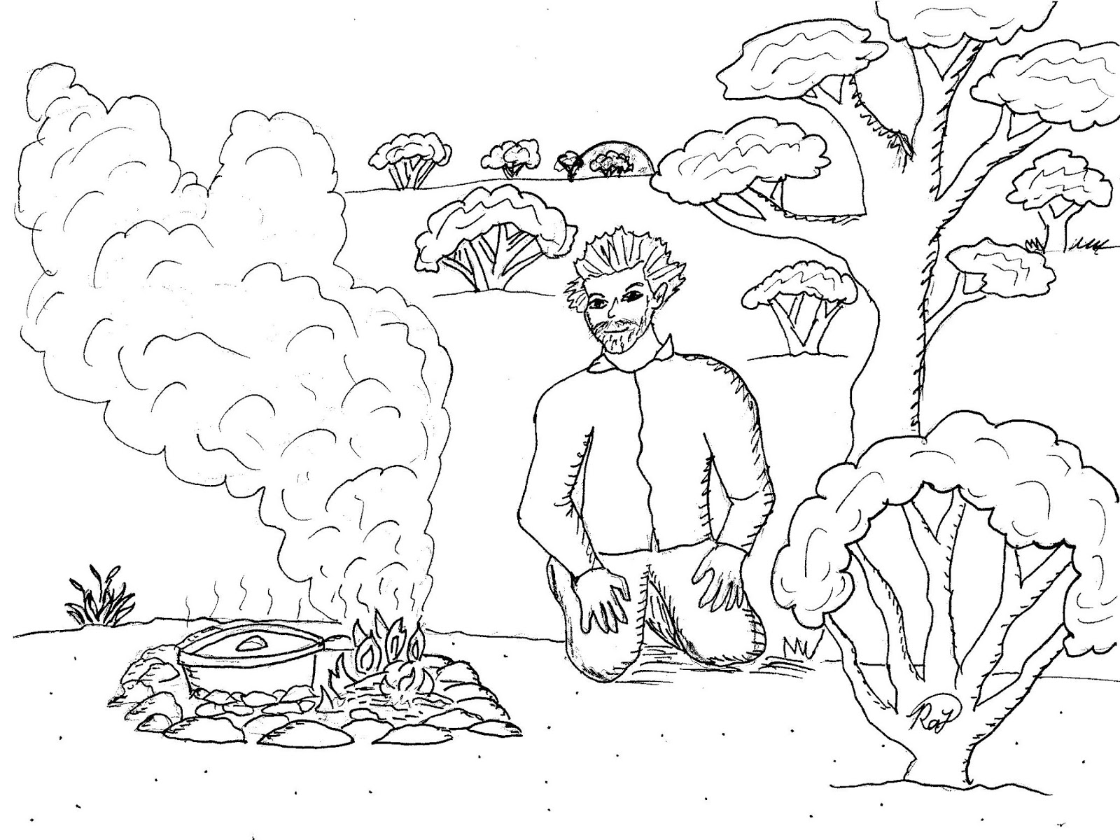 Robin's Great Coloring Pages: People of Earth Sanctuary
