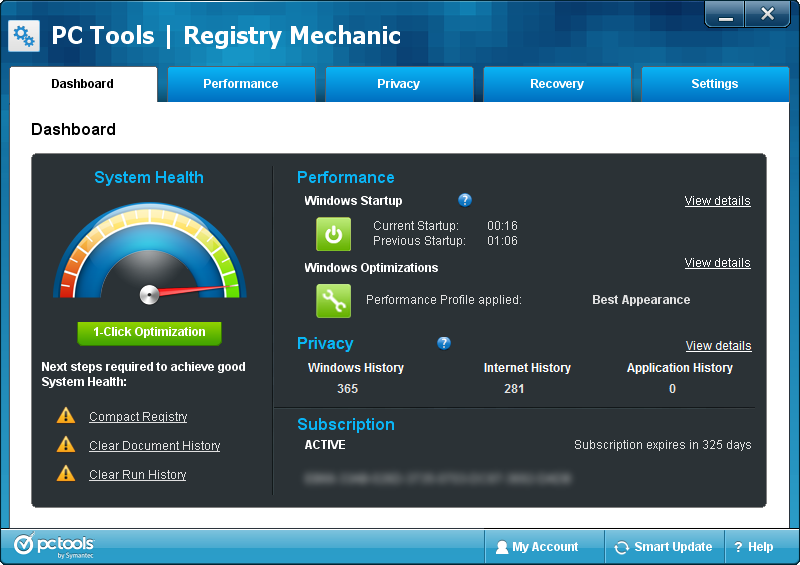 PC Tools Registry Mechanic v11.1.0.214 With Key crack