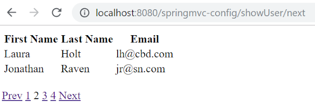 Spring MVC pagination example with PagedListHolder