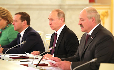 President Putin at the meeting of the Supreme State Council of the Union State of Russia and Belarus.