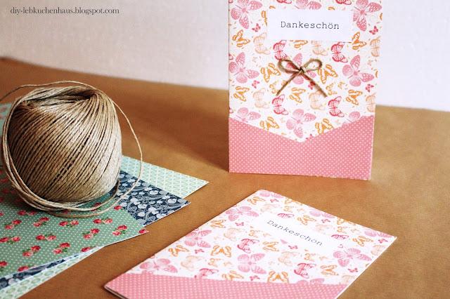 Dankeskarten Selber Basteln : Karten basteln (Anleitung) Dankeskarten selbst gestalten