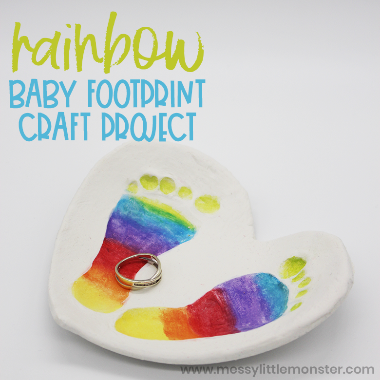Clay baby footprint art