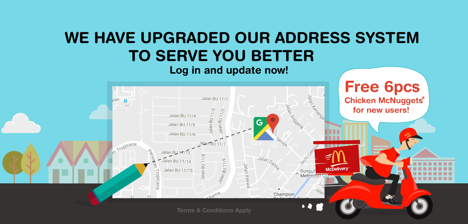 Except as described otherwise, all materials in the McDonald's™ site are made available only to provide information about McDonald's™. McDonald's™ controls and operates this site from its office in Kuala Lumpur, Malaysia and makes no representation that these materials are appropriate or available for use in other locations.
