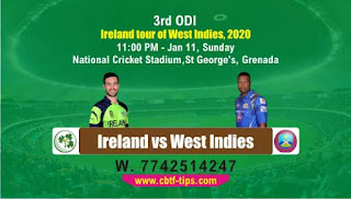 cricket prediction 100 win tips IRE vs WI