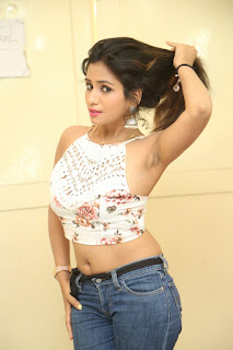 Deekshita Parvathi in a short crop top and Denim Jeans Spicy Pics Beautiful Actress Deekshita Parvathi January 2017 CelebxNext (240).JPG