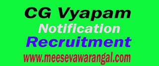 CG Vyapam Recruitment Notification