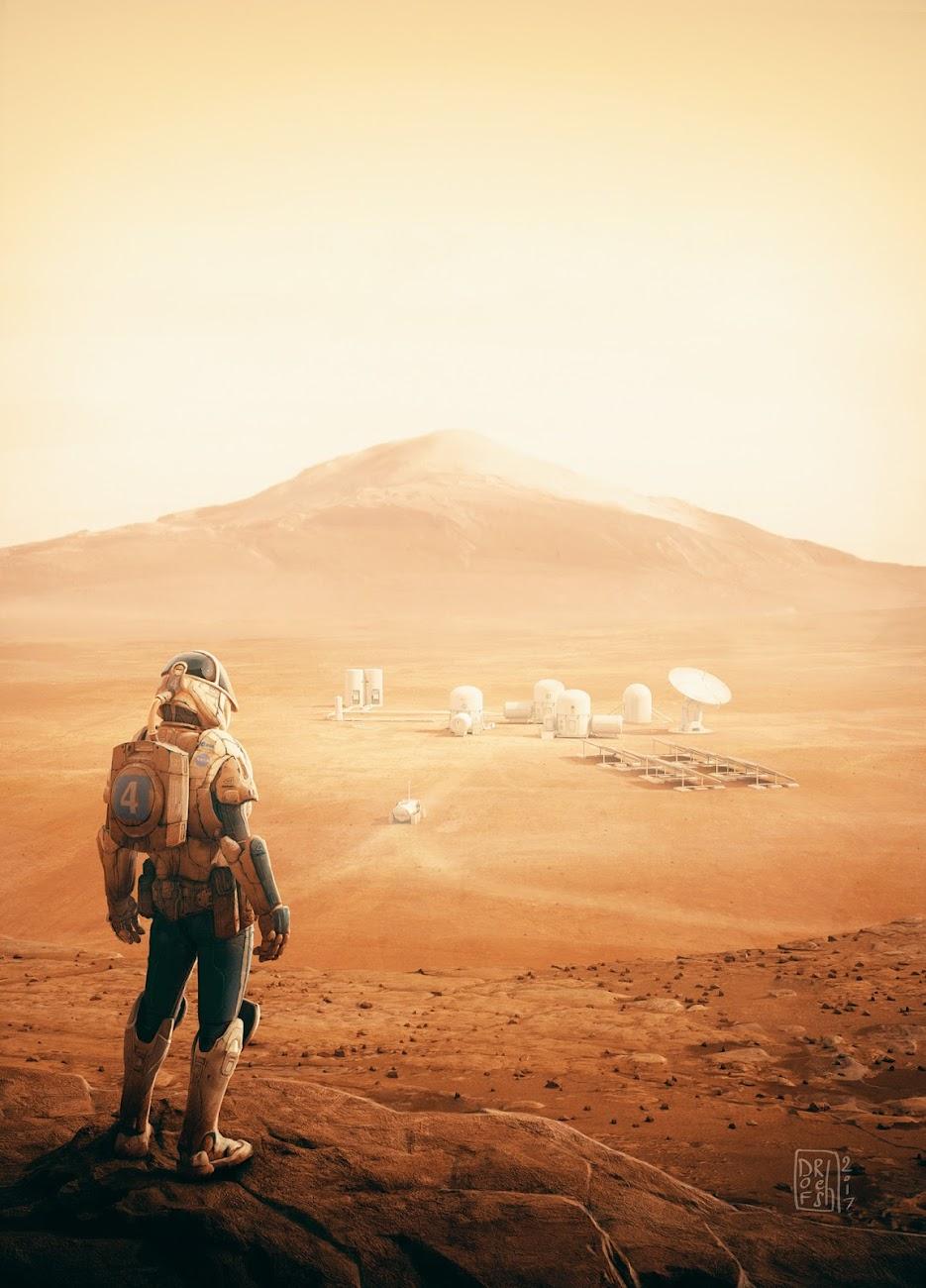 Early human base on Mars by Ronan Le Fur (Dofresh)
