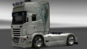 Fox White skin for Scania R