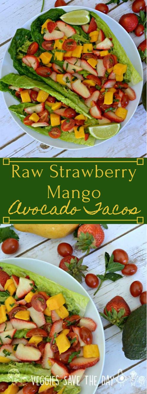 RAW STRAWBERRY MANGO AVOCADO TACOS #tacos #healthydiet #recipes #avocado #paleo