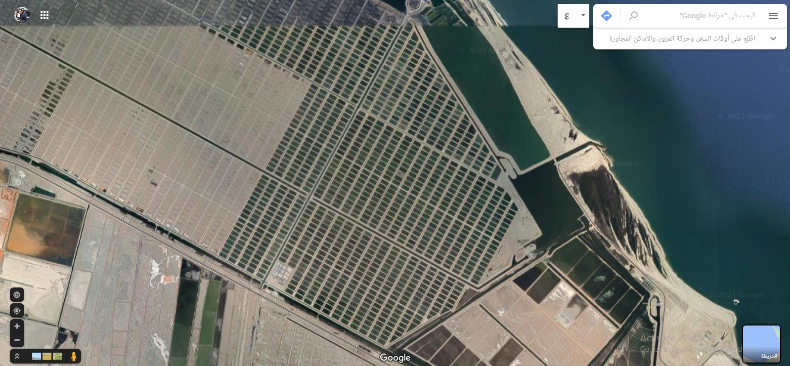 """Watch """"El Fayrouz """", the largest aquaculture project in the Middle East, from satellite"""