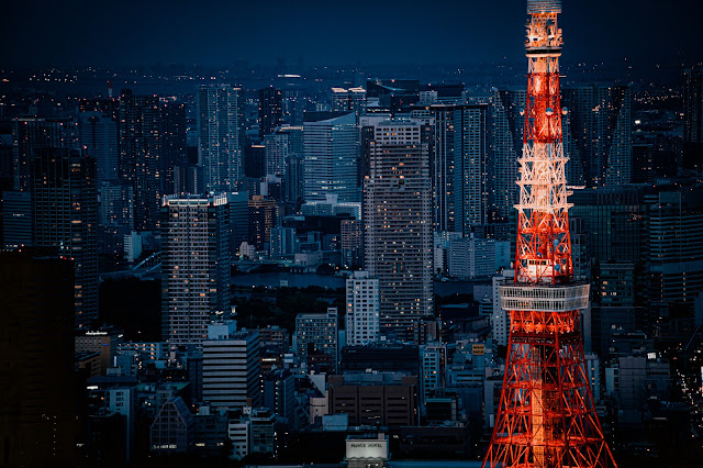 東京タワー,夜景,望遠,ライトアップ