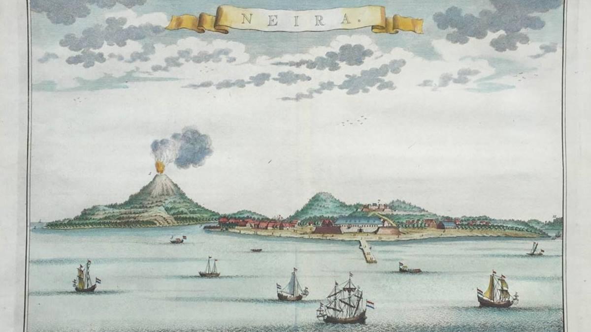 lukisan kapal-kapal pembawa komoditas Banda