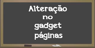 Alteração no gadget páginas do Blogger