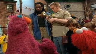 Telly gets her tuba. Sesame Street Let's Make Music