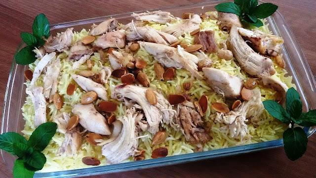 فتة الدجاج بالارز