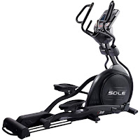 "Sole E98 Elliptical Trainer Machine, light commercial grade, 32 lb flywheel, 20"" stride length, power adjustable incline"