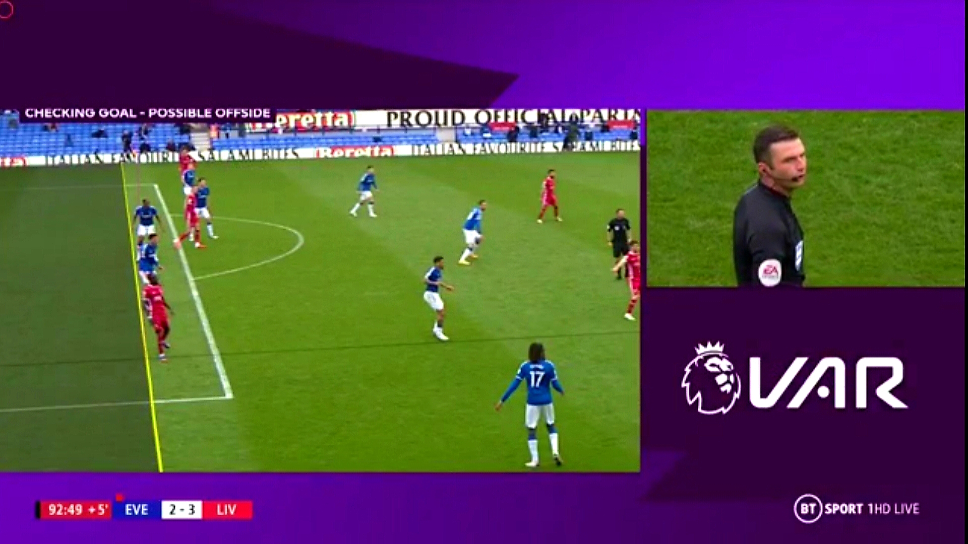VAR denies Liverpool late winner against Everton, ruled out Jordan Henderson's strike.