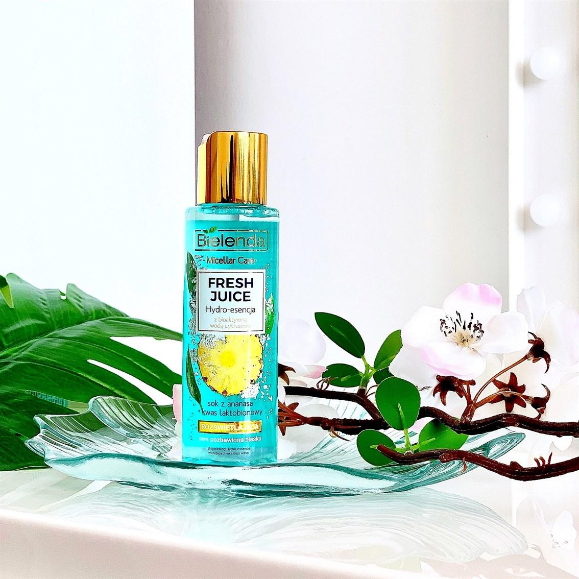 Bielenda Fresh Juice rozświetlająca hydro-esencja z bioaktywną wodą cytrusową ananas opinie