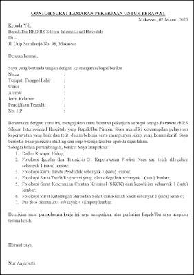 Contoh Surat Lamaran Pekerjaan Untuk Kesehatan Tanpakoma
