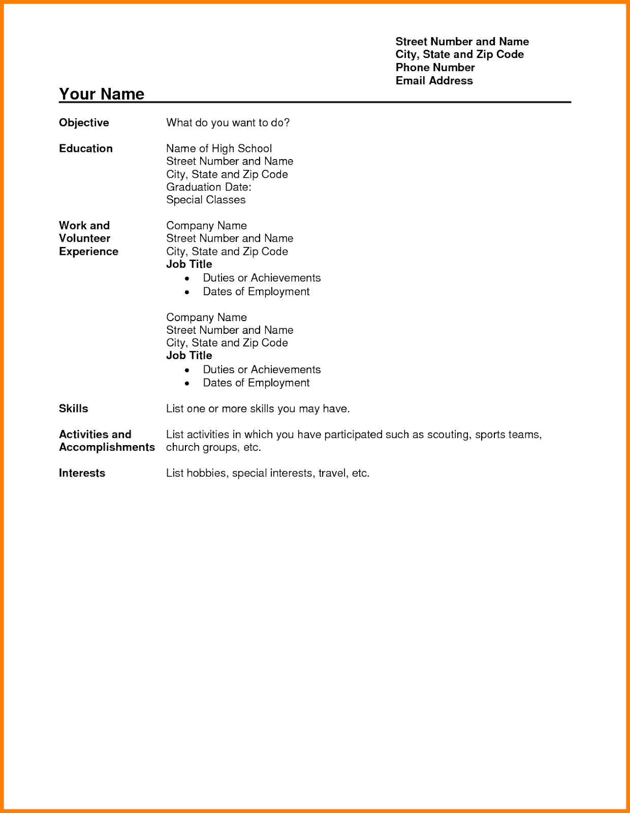 high school student resume examples high school student resume examples for college high school student resume examples pdf high school student resume examples canada high school student resume examples no work experience high school student resume examples first job high school student resume examples australia high school student resume examples 2019 high school student resume examples