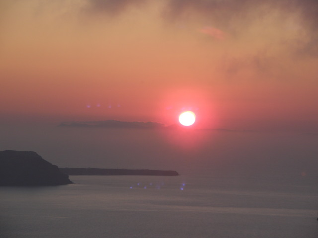 Ausblick auf die Caldera, Firostefani, Santorin